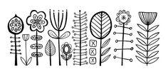 dessins stylisés fleurs