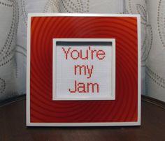 You're my Jam  Framed Cross Stitch von bombastitch auf Etsy, $25.00