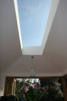 Extension, New Malden -intersting rooflight Side Return Extension, Rear Extension, Extension Ideas, Glass Ceiling, Ceiling Lights, Garden Studio, Roof Light, House Extensions, Detached House
