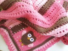 Crochet Baby Owl Blanket By Poochie Crocheting Pattern