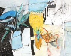 Inside, Looking Out, mixed media, 42 x 53 cm, by Shirley Trevena
