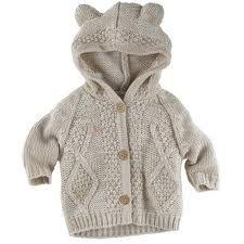 hooded beige knit