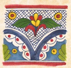 mexican pattern  Love this pattern and vivid colors!~