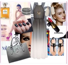"""Grey maxi on a hot day"" by preety-s on Polyvore"
