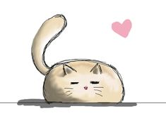 This just made my day :3 Fat Kitty- Artist: Lauren Gray http://luckygala333.wordpress.com/2013/03/28/fat-kitty/