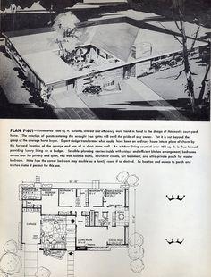 Plan P-601: 1961 | Flickr - Photo Sharing! 3/4 Bed, 2 Bath, Garage, small pool.