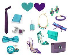 Styling Bride and Groom in purple and turquoise - Styling für Braut und Bräutigam in violett und türkis