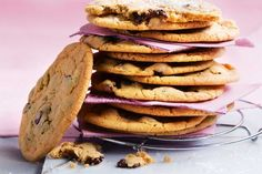 Salted choc-chip cookies