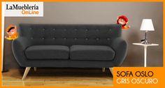 Sofa Oslo gris en stock en la Muebleria OnLine
