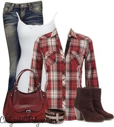 """""""Embroidered Plaid Button Up Shirt"""" by cindycook10 on Polyvore"""