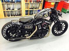 harley davidson sportster parts used Harley Bobber, Harley Davidson Chopper, Harley Davidson Sportster, Custom Bobber, Custom Harleys, Custom Bikes, Custom Sportster, Custom Cars, Triumph Motorcycles