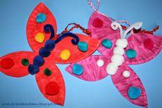 motyle z papierowych talerzyków / paper plate butterfly craft
