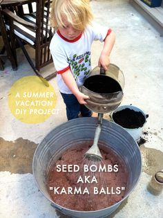 A super fun kids project for #summer - DIY SEED BOMBS!