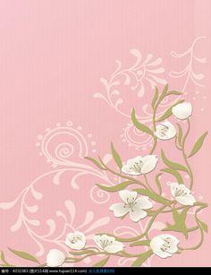 粉色背景绿叶