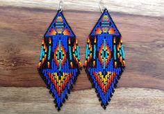 Summer Rising Earrings Dark Blue by wildmintjewelry on Etsy, $70.00