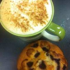 Today at Madalyn's Coffee & Tea Enjoy a great tasting Orange Mocha Latte with a Blueberry Muffin. A great way to start the day