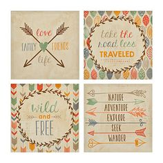 Wild and Free Canvas Art Prints, Set of 4   Kirklands