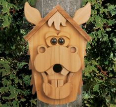 Cow & Horse Birdhouse Woodcraft Patterns More