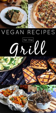 Vegan grill recipes for both alternative main dishes and tasty, grilled sides. Memorial Day is coming, which means grilling season is here! Try these delicious vegan grill recipes along with sides, dips, & sauces for your next cookout. Vegan Bbq Recipes, Healthy Grilling Recipes, Grilled Steak Recipes, Vegan Foods, Vegan Dishes, Whole Food Recipes, Cooking Recipes, Barbecue Recipes, Barbecue Sauce