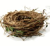 "Natural Honeysuckle Bird Nests (10"")  $5.99 each / 6 for $4.99 each"