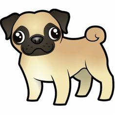 Cute Cartoon Pug
