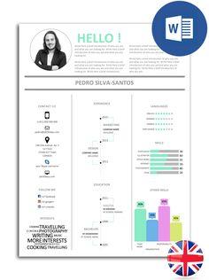 The best CV models fully editable in Word Cv Models, Resume Models, Best Resume, Resume Cv, Cv Curriculum, Marketing Words, Personal Branding, Mood Boards, Bar Chart