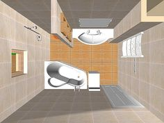 Fürdőszoba elrendezési ötlet