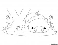 Printable Animal Alphabet worksheets Letter X for Xenarthra - Printable Coloring Pages For Kids