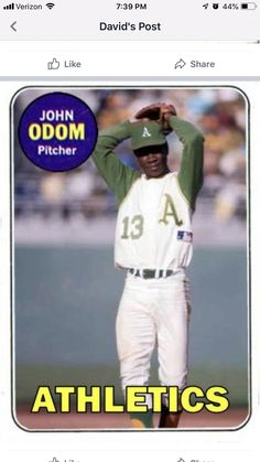 Baseball Players, Baseball Cards, Baseball Pictures, Oakland Athletics, Custom Cards, Athlete, Sports, Legends, Memories