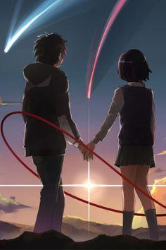 Anime Backgrounds Wallpapers, Animes Wallpapers, Mitsuha And Taki, Kimi No Na Wa Wallpaper, Your Name Wallpaper, Image Swag, Couples Anime, Anime Couples Hugging, Your Name Anime