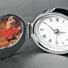 Engraved Clock & Frame is not only engraved with your message but you can add your own photo to this folding alarm clock - great for the desk or on the road. Engraved Gifts, Personalized Gifts, Sterling Silver Cufflinks, Silver Gifts, Compact Mirror, Book Gifts, Gifts For Girls, Chrome Finish, Alarm Clock
