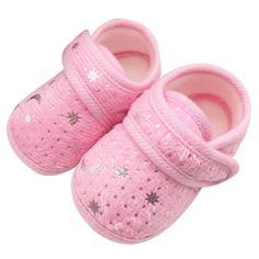 Nice Cute Infants Boys Girls Shoes Cotton Crib Shoes Star Print Prewalker New Baby Shoes - $ - Buy it Now!