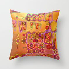 Sunny Colours Throw Pillow by Vitta - $20.00