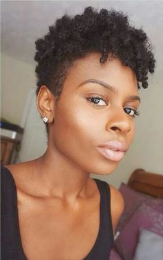 Tapered hair cut with finger coils. I love!