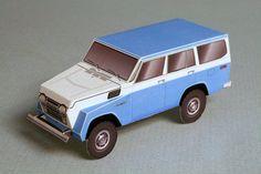 Toyota FJ55 Land Cruiser paper model | papercruiser.com