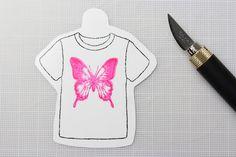 45.蝶のTシャツモチーフがカットできました!