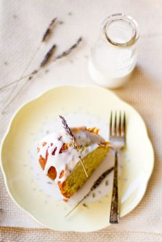 Almond & Lavender Cake - Perfect for a classy afternoon tea! #recipe #almonds #bluediamond