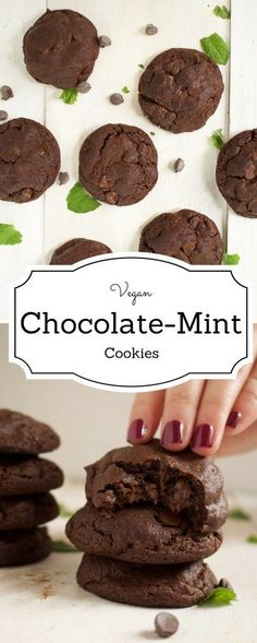 vegan chocolate mint cookies - What began as a simple experiment, turned into the best vegan chocolate mint cookies I have ever made, all thanks to a very simple technique -IdrissTwist