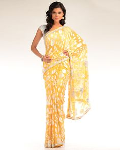 Marigold Yellow Embellished Sari
