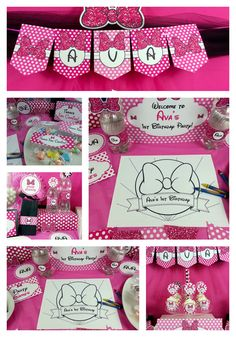 Cool Minnie Mouse Birthday Party!  See more party ideas at CatchMyParty.com! #girlparty