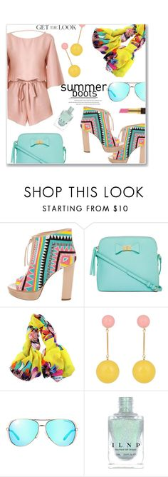 """Keep on Walkin'"" by jckallan ❤ liked on Polyvore featuring Jerome C. Rousseau, Liz Claiborne, J.W. Anderson, Michael Kors, Kevyn Aucoin and summerboots"