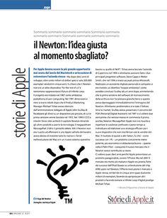"""Rubrica Storie di Apple su Applicando 327 - """"Il Newton: l'idea giusta al momento sbagliato?"""""""