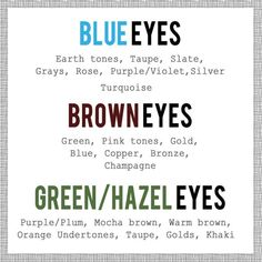 makeup pairing colors blue eyes