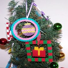 Christmas ornaments perler beads by CreativeXpression1
