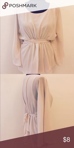 Fairytale Top Pale pink flowing top perfect for that sweet date or family party! Forever 21 Tops Blouses
