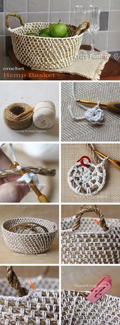 32 Ideas For Basket Pattern Weaving Crafts For Girls, Diy And Crafts, Creation Deco, Craft Wedding, Craft Tutorials, Craft Videos, Crochet Projects, Needlework, Knit Crochet