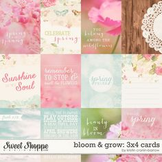 Bloom & Grow 3x4 Cards by Kristin Cronin-Barrow at Sweet Shoppe Designs