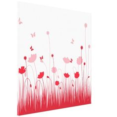 Red poppies Wrapped Canvas