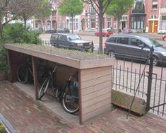 bike shed plans . bike shed plans Outdoor Bike Storage, Bicycle Storage, Garage Velo, Bike Shelter, Diy Bike Rack, Bicycle Rack, Build Your Own Shed, Shed Kits, Bike Shed