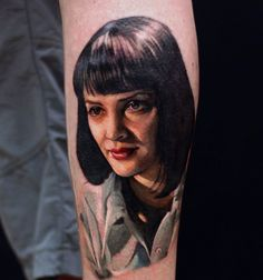 Mia Wallace still in progress. Miguel Ameliach @OneMoreTattoo Luxembourg - Imgur